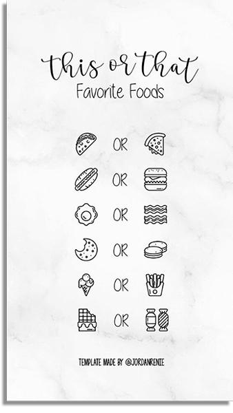 Favorite foods WhatsApp games