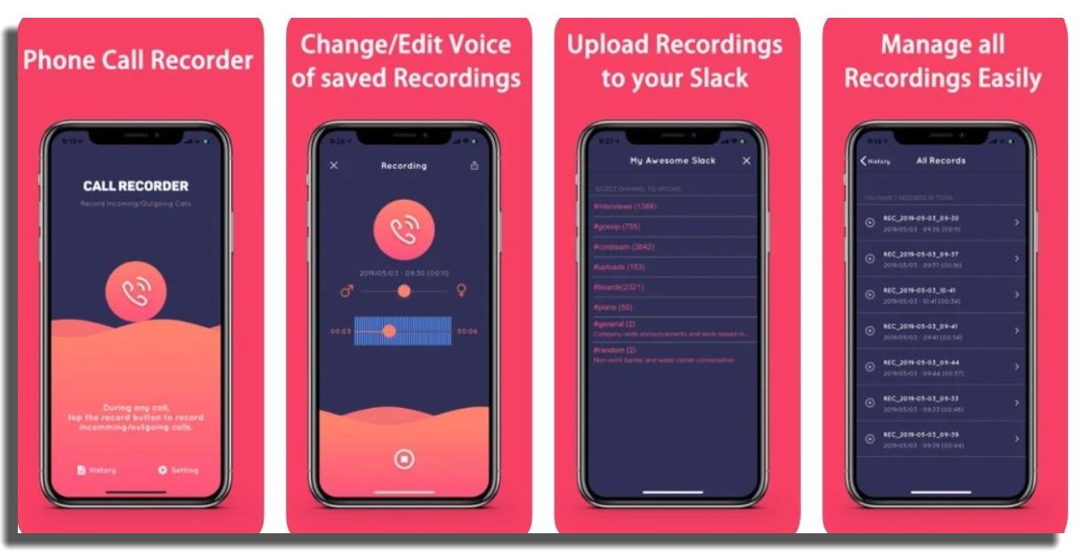 Grabador de Llamadas ACR grabar llamadas en iPhone