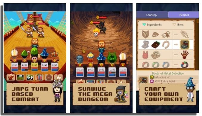 juegos offline para Android Knights of Pen & Paper 2