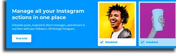 Postgrain best scheduling apps for Instagram