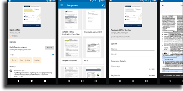 RightSignature best electronic signature apps