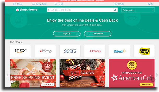 Shop At Home best cashback apps