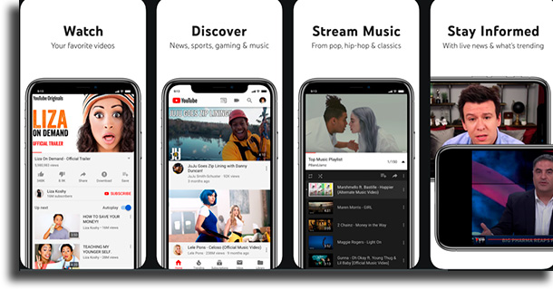 YouTube movie streaming apps on iPhone