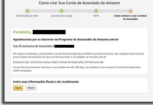 aceito no Amazon afiliados