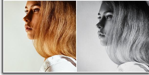 filtro preto e branco