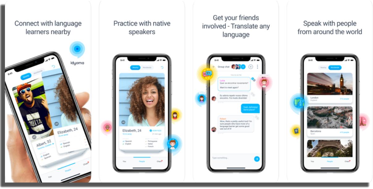 hablar y aprender idiomas con extranjeros Idyoma