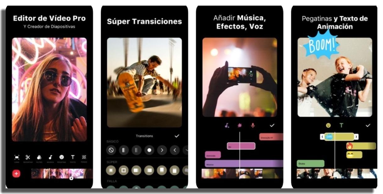 editores de video para iPhone inShot