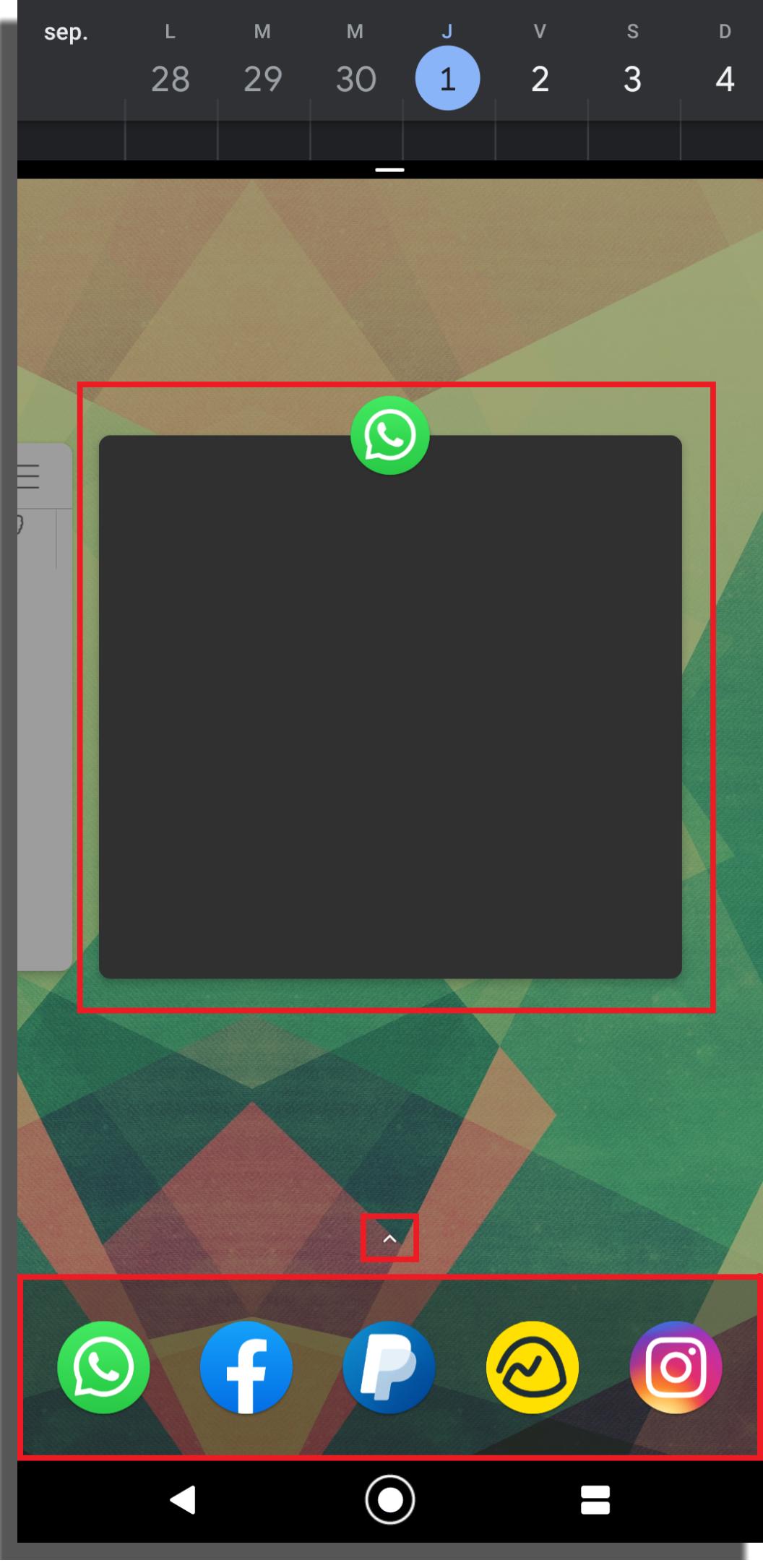 cambiar de app en las ventanas simultáneas