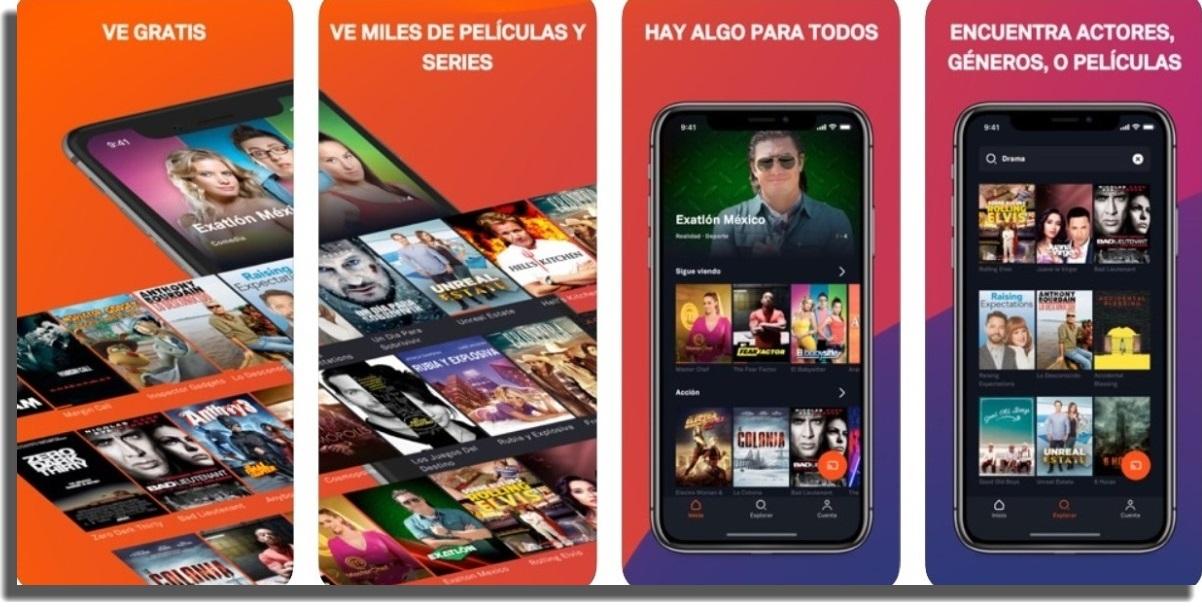 ver películas y series en iOS Tubi