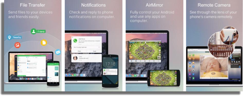 AirDroid aplicaciones gratuitas para Android