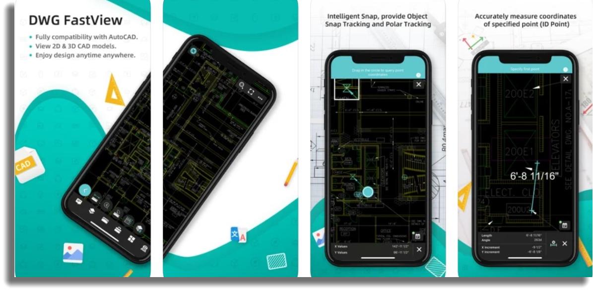 diseñar planos de casas por celular DWG FastView