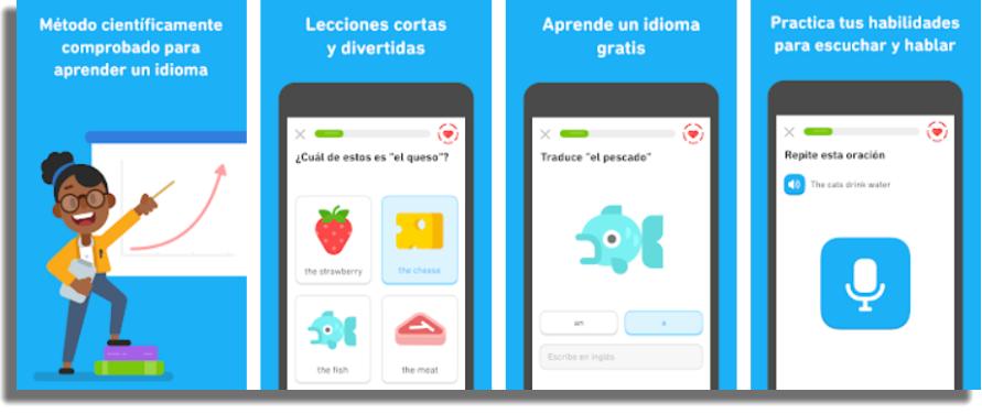 Duolingo aplicaciones gratuitas para Android