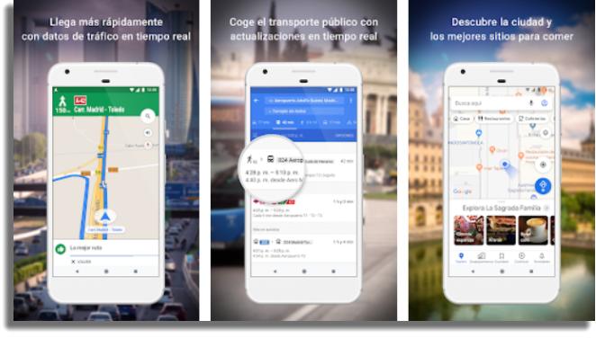 aplicaciones gratuitas para Android Google Maps