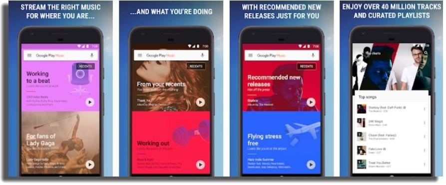 escuchar música sin conexión en Android Google Play Music