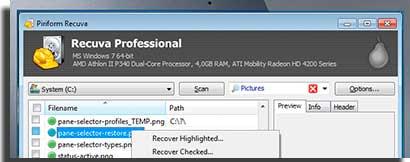 Recuva best free data recovery software
