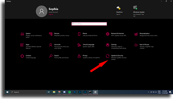 Update & Security Your Windows license will expire soon