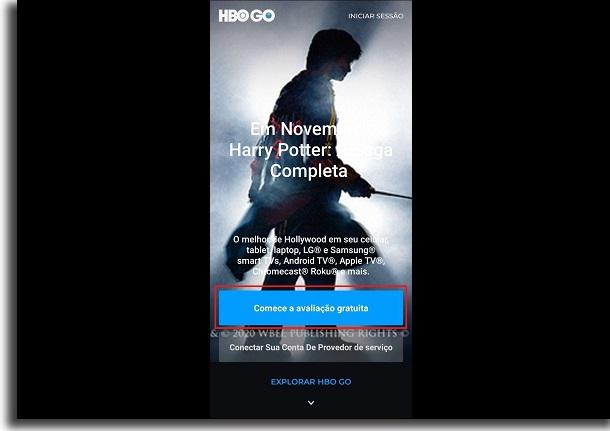 teste da HBO Go
