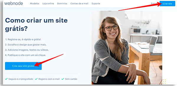 aprenda como fazer um site grátis em poucos passos pela webnode
