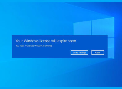 cover Your Windows license will expire soon