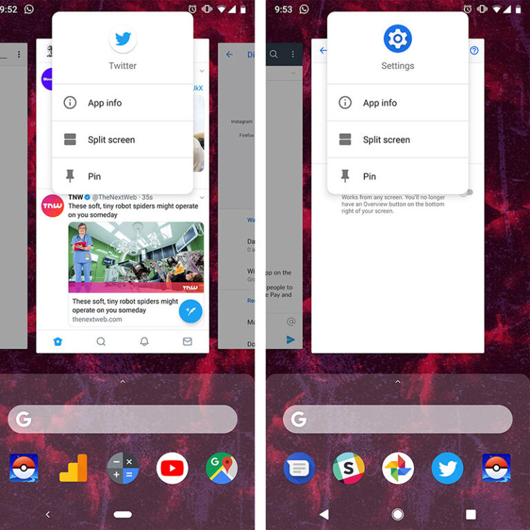 How to use the split-screen on Android 9 to use 2 apps at once!