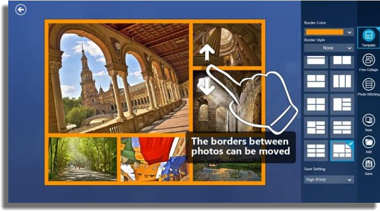 hacer collages de fotos en Windows Fotor