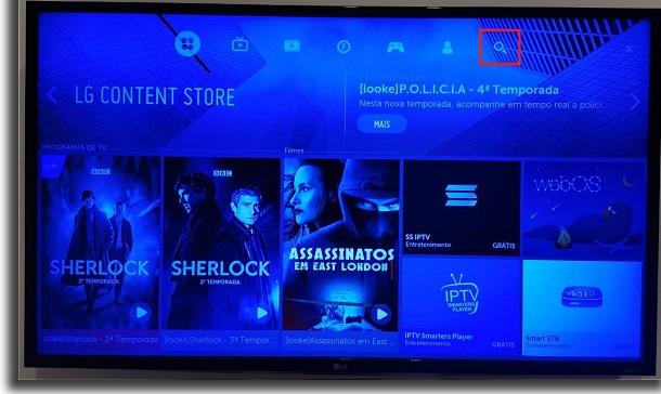 smart tv busca