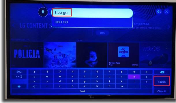 pesquisa na smart tv