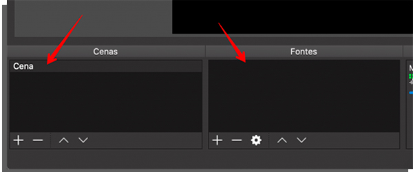 pantalla de inicio obsstudio