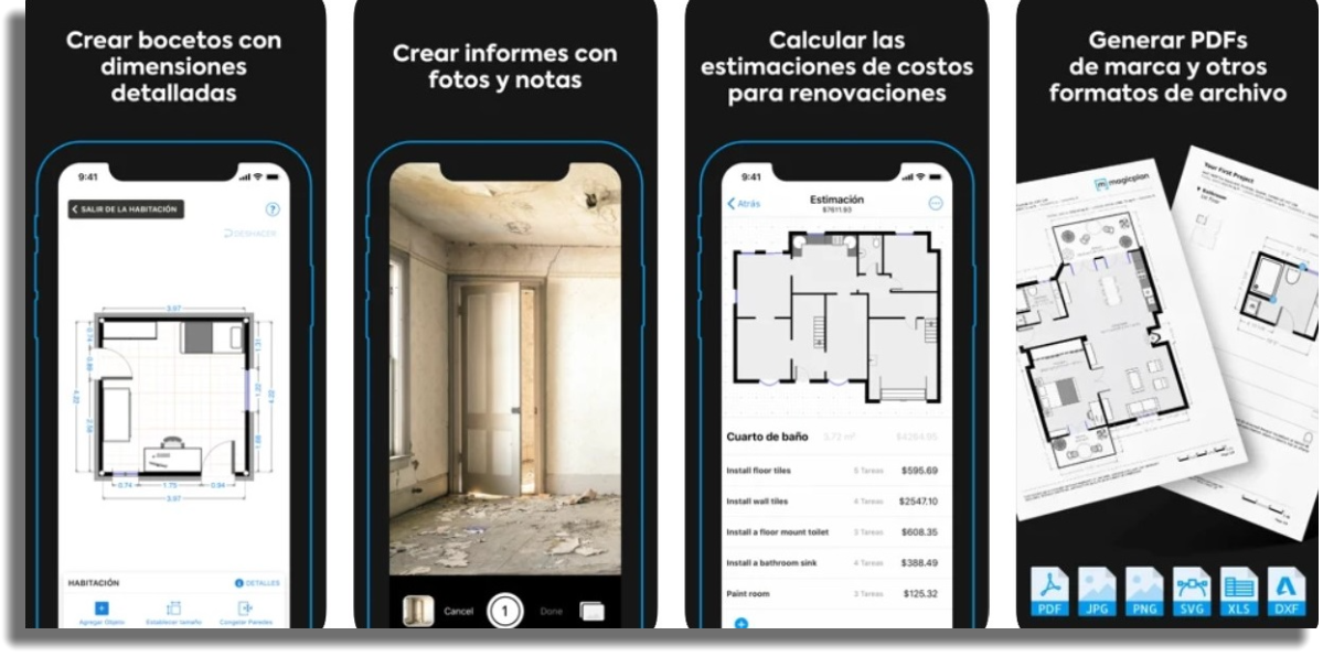 diseñar planos de casas por celular magicplan