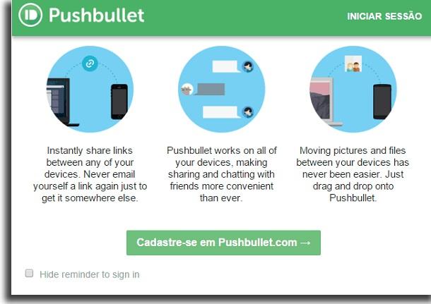 usar o pushbullet