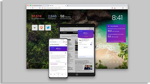 o brave é um navegador grátis para iphone