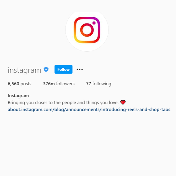 20 most followed Instagram profiles (November 2020)