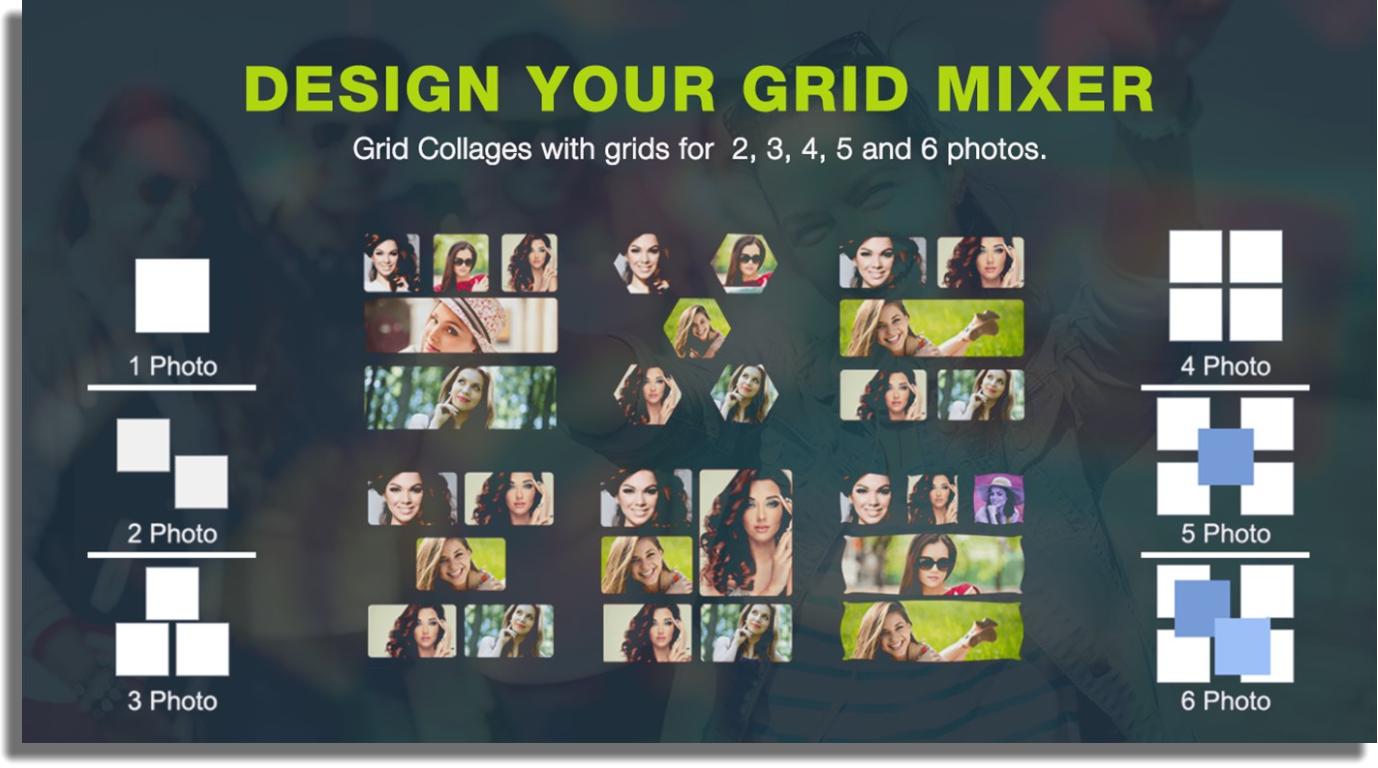 hacer collages de fotos en Windows Photo Mixe Photo Collage