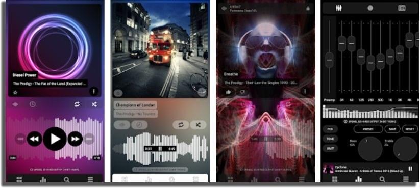 escuchar música sin conexión en Android poweramp