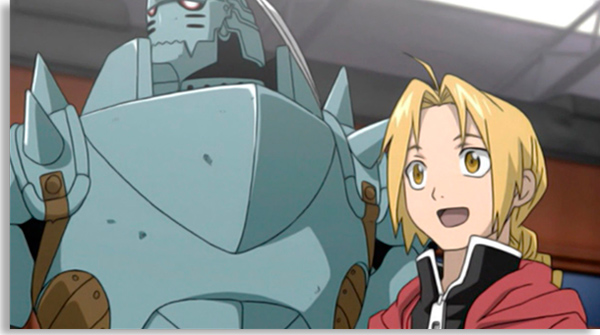 animações também podem ser seriados de ficção científica e Fullmetal Alchemist é um exemplo