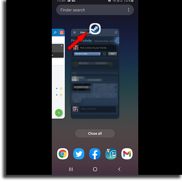 Steam icon split-screen on Android