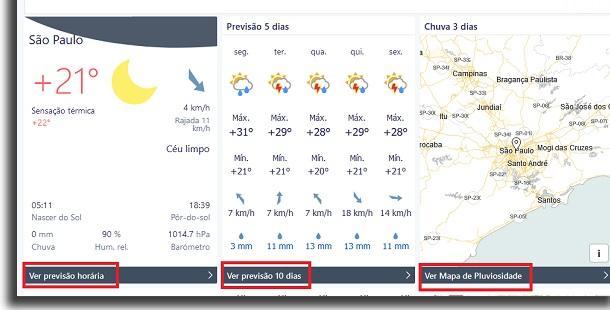 previsão do tempo no foreca