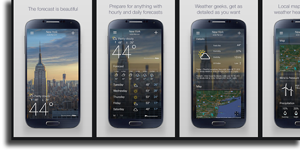 Yahoo! Weather best weather forecast apps