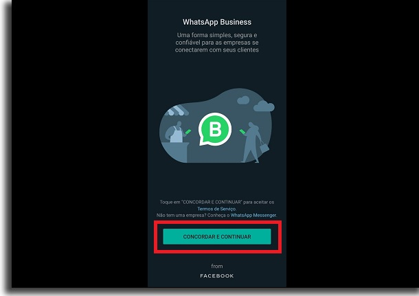 termos do whatsapp business