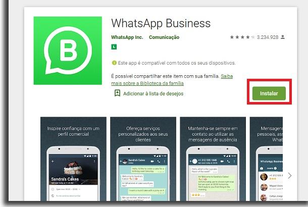 instalar o whatsapp business