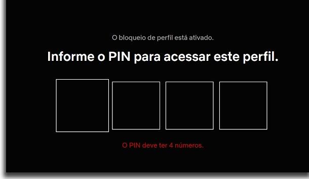 perfil protegido por PIN