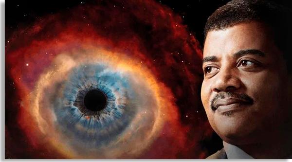 o cientista neil degrasse-tyson em imagem promocional do documentário cosmos