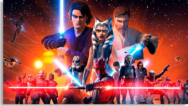 tela promocional de star wars: the clone wars