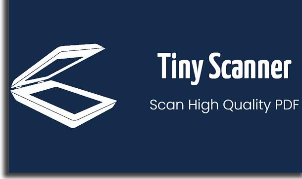 gerenciar o trabalho com tiny scanner