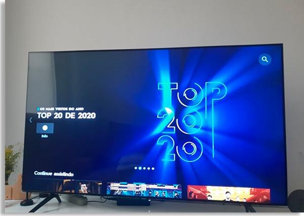 tela inicial do serviço, mostrando programas de destaque