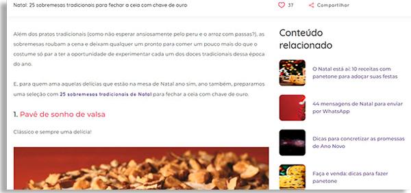 tela do site da ana maria braga