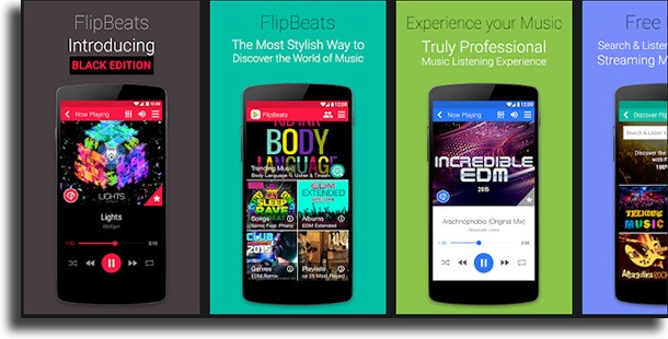 FlipBeats Music Player best Android music players
