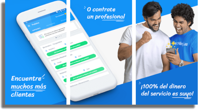 GetNinjas apps para ganar dinero