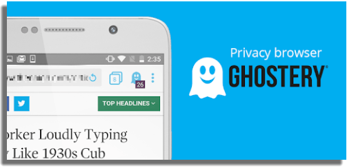 Navegadores web PC, iOS, Android Ghostery Privacy Browser