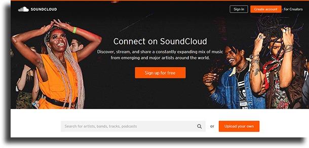 SoundCloud best websites to download music